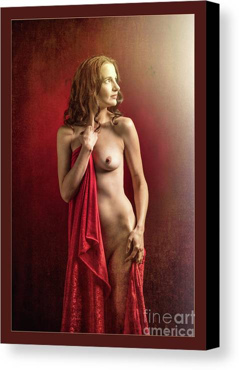 Nude Canvas Print featuring the photograph Nude Young Woman 1718.03 by Kendree Miller