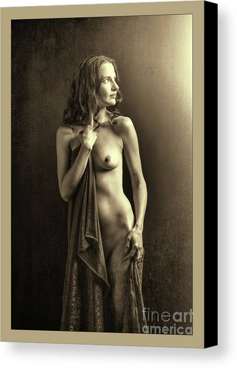 Nude Canvas Print featuring the photograph Nude Young Woman 1718.502 by Kendree Miller