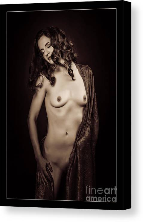 Nude Canvas Print featuring the photograph Nude Young Woman 1718.503 by Kendree Miller