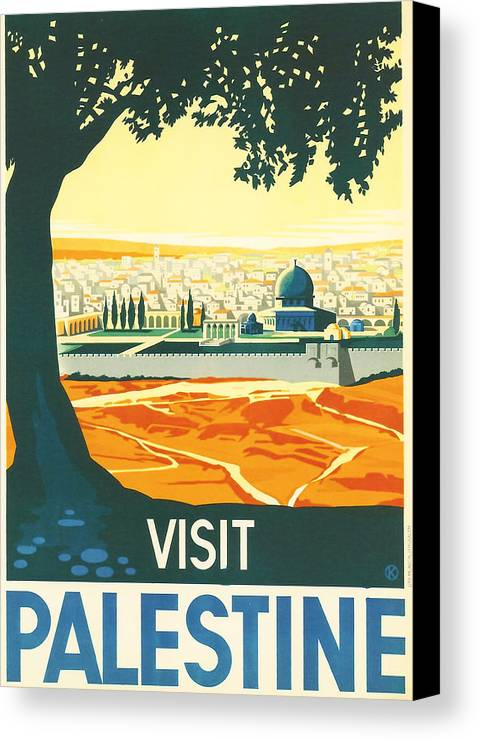 Ancient Canvas Print featuring the digital art Palestine by Georgia Fowler