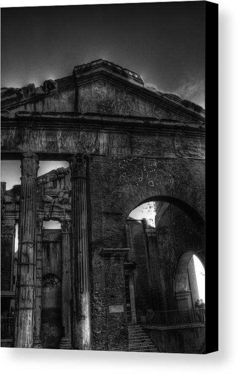 Portico Canvas Print featuring the photograph Portico Di Octavia by Brian Thomson
