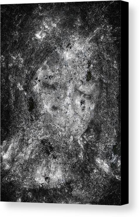 Abstract Canvas Print featuring the digital art Portrait In Black by Randy Steele