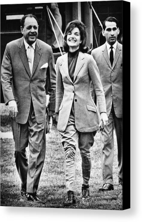 1960s Canvas Print featuring the photograph President Ayub Khan Left, Of Pakistan by Everett