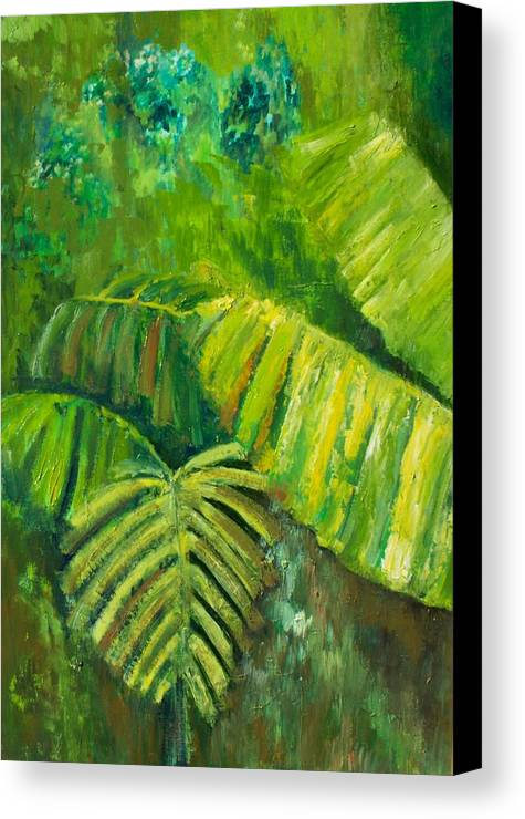 Rain Forest Canvas Print featuring the painting Rain Forest by Carol P Kingsley