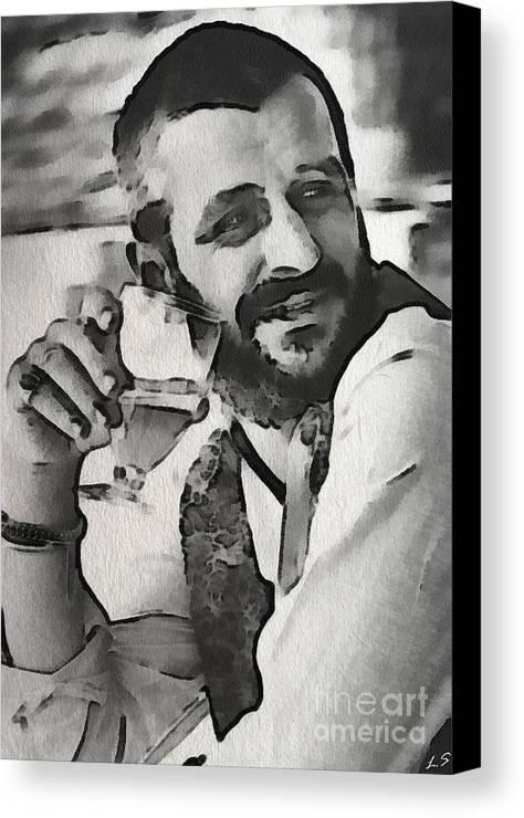 Richard Starkey Canvas Print featuring the painting Ringo by Sergey Lukashin