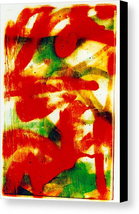 Abstract Canvas Print featuring the photograph Salsa by David Rivas