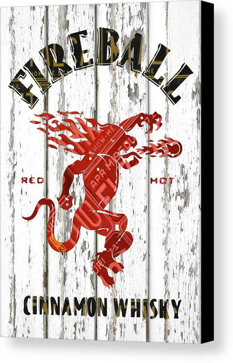 Sazerac Fireball Whisky Dragon Logo Missouri License Plate Art ...