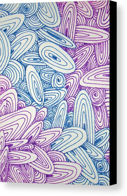 Graphic Canvas Print featuring the drawing See Study Twenty by Ana Villaronga