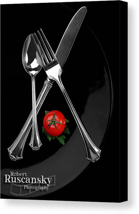 Product Sliverware Canvas Print featuring the photograph Silverware by Robert Ruscansky