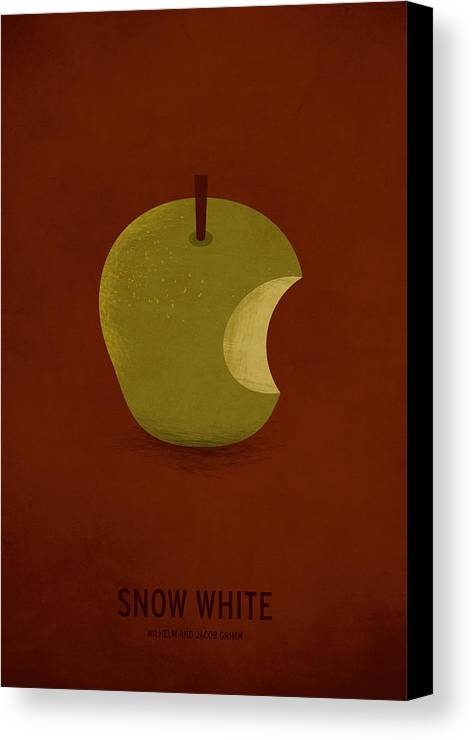 Stories Digital Art Canvas Print featuring the digital art Snow White by Christian Jackson