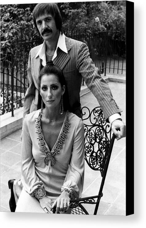 1970s Fashion Canvas Print featuring the photograph Sonny & Cher, Sonny Top, Cher Bottom by Everett