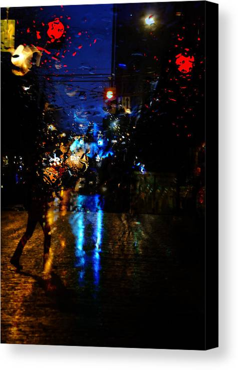 Street Photography Canvas Print featuring the photograph Steps Towards Night by The Artist Project