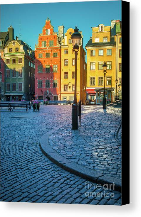 Europe Canvas Print featuring the photograph Stockholm Stortorget Square by Inge Johnsson