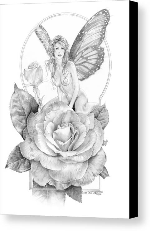 Faerie Canvas Print featuring the drawing Summer Faerie - The Season Faeries by Steven Paul Carlson