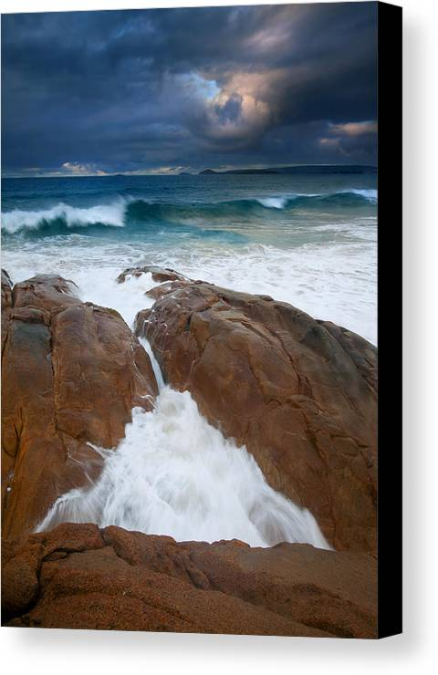 Waves Canvas Print featuring the photograph Surfs Up by Mike Dawson
