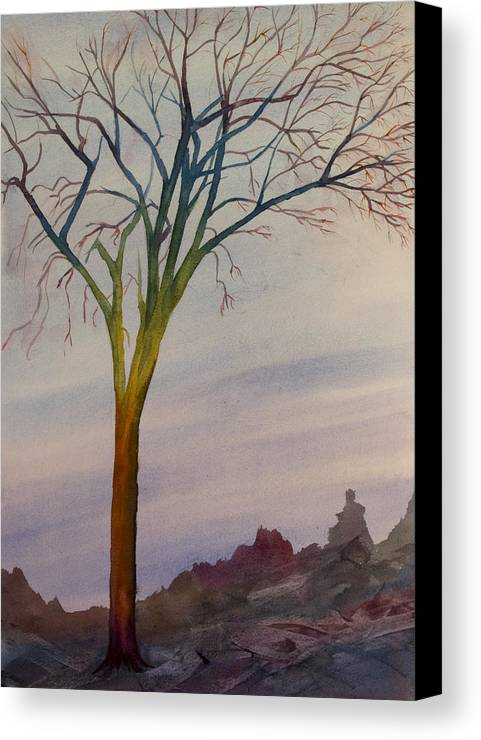 Abstract Canvas Print featuring the painting Surreal Tree No. 2 by Debbie Homewood