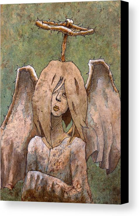 Angel Canvas Print featuring the painting The Jaded Angel by Ethan Harris