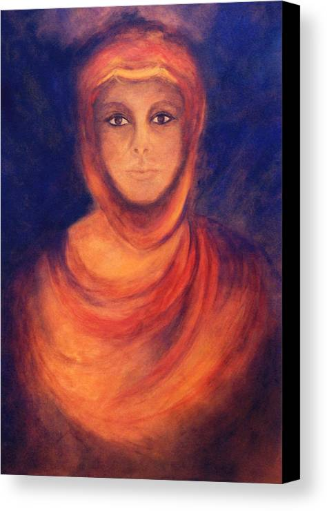 Woman Canvas Print featuring the painting The Oracle by Marina Petro