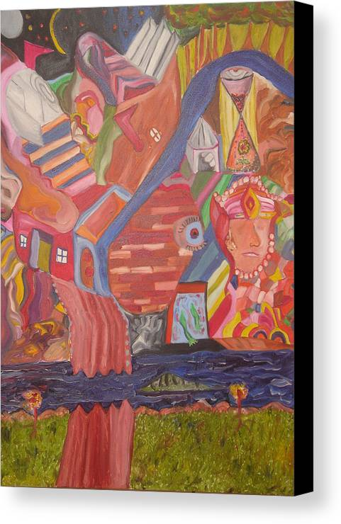 Canvas Print featuring the painting Time by Joseph Arico