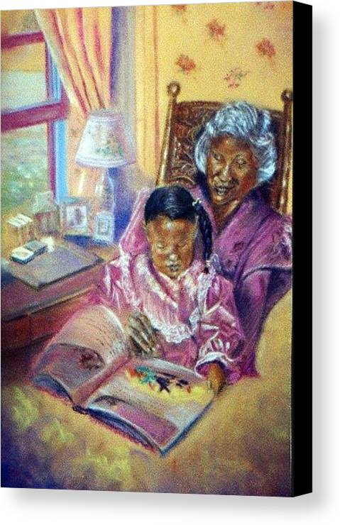 Children Canvas Print featuring the pastel Time Well Spent by Tommy Winn