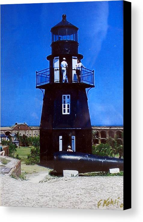 Landscape Photographs Canvas Print featuring the photograph Tortugas Light by Frederic Kohli