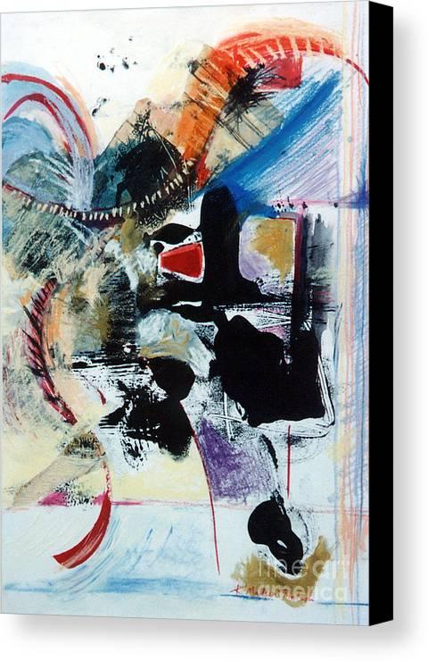 Transcendance Canvas Print featuring the drawing Transcendance by Kerryn Madsen-Pietsch