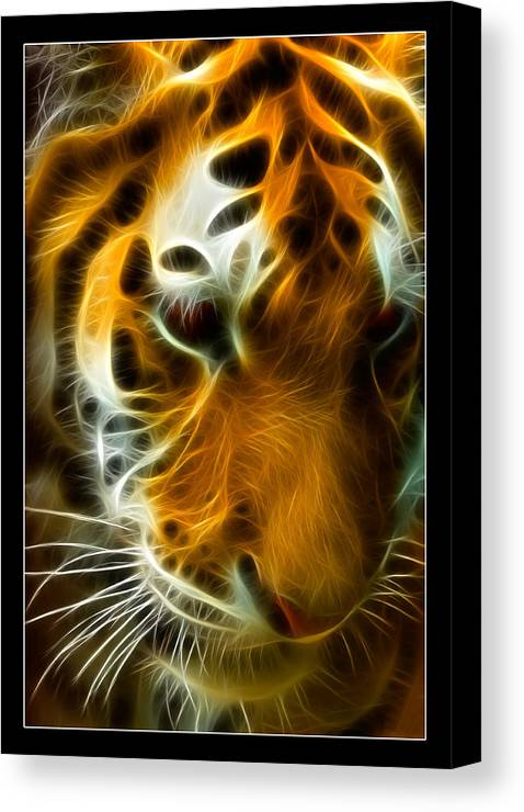 Bengal Canvas Print featuring the photograph Turbulent Tiger by Ricky Barnard