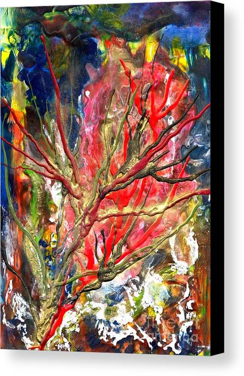 Free Canvas Print featuring the painting Veins Of Promise by Heather Hennick