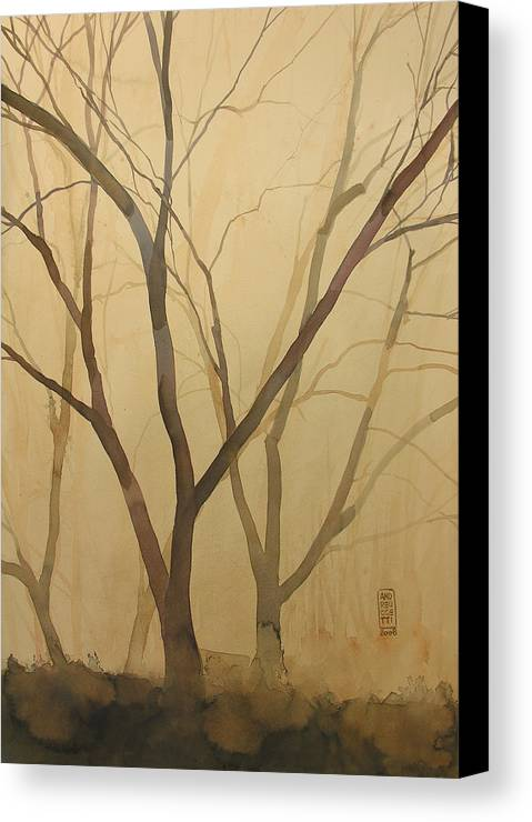 Tree Canvas Print featuring the painting Waiting For The Spring by Alessandro Andreuccetti