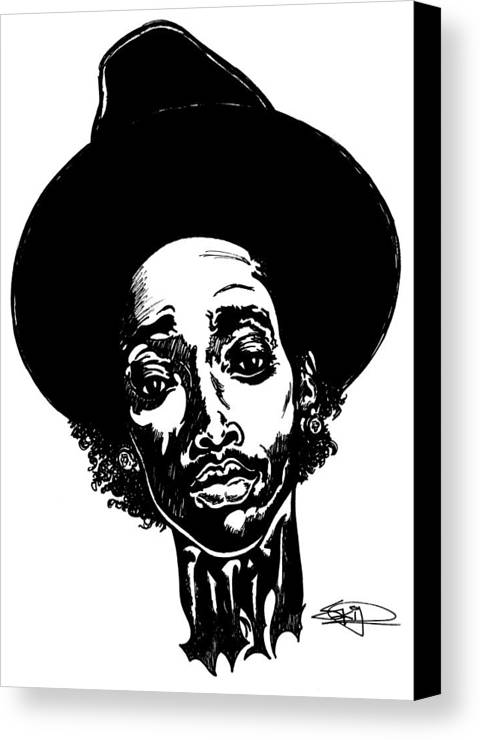Hiphop Canvas Print featuring the painting WIZ by SKIP Smith