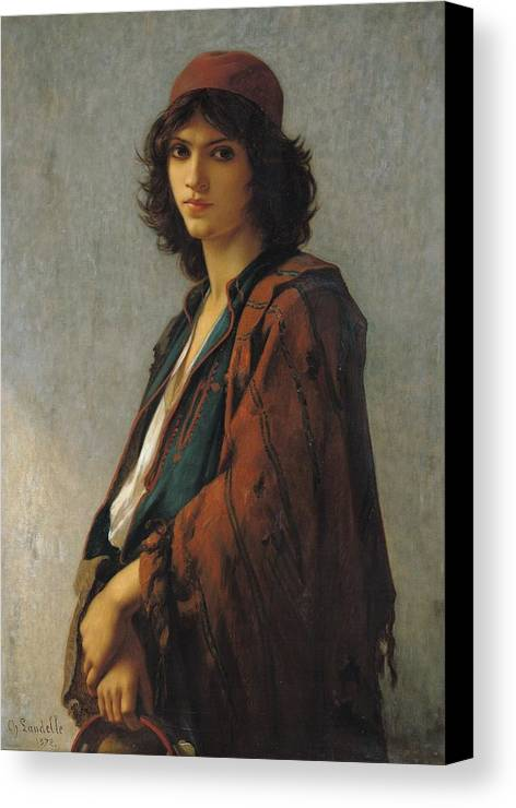 Young Bohemian Serb Canvas Print featuring the painting Young Bohemian Serb by Charles Landelle