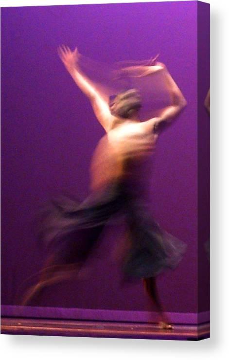 Modern Jazz Ballet Canvas Print featuring the photograph 01 24 2013 Dancer 1 by Dr Joseph Uphoff