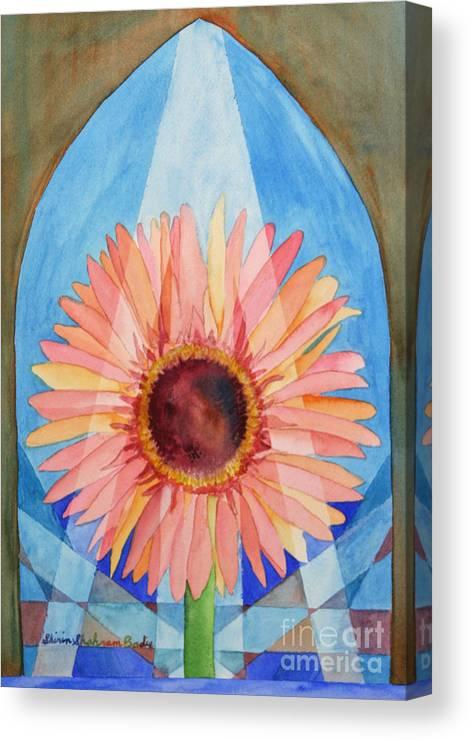 Plants Canvas Print featuring the painting Praying Gerbera by Shirin Shahram Badie