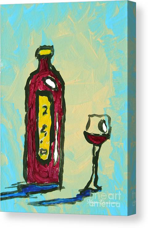 Abstract Art Original Wine Bottle Glass Painting Simple By Megan