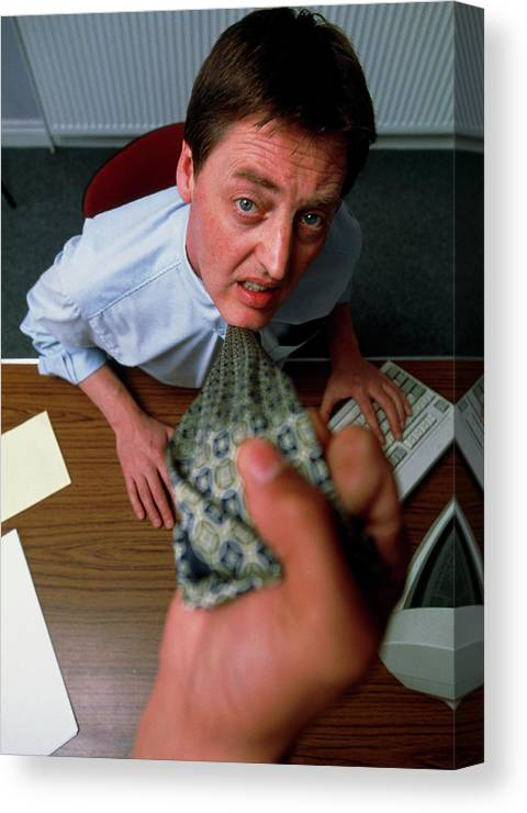 Medicine Canvas Print featuring the photograph Attacking General Practice Doctor by Jim Varney/science Photo Library