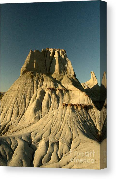 Hoodoo Canvas Print featuring the photograph Badlands Hoodoo by Matthew Naiden