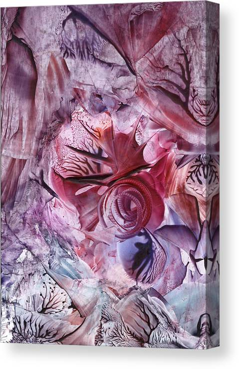 Wax Canvas Print featuring the painting Eden Afloat by Cristina Handrabur