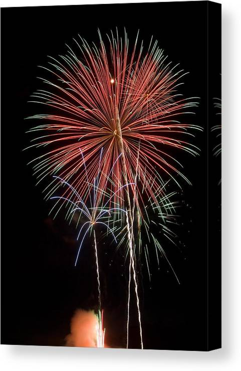 Fireworks Canvas Print featuring the photograph Flowery Sparks by Devinder Sangha