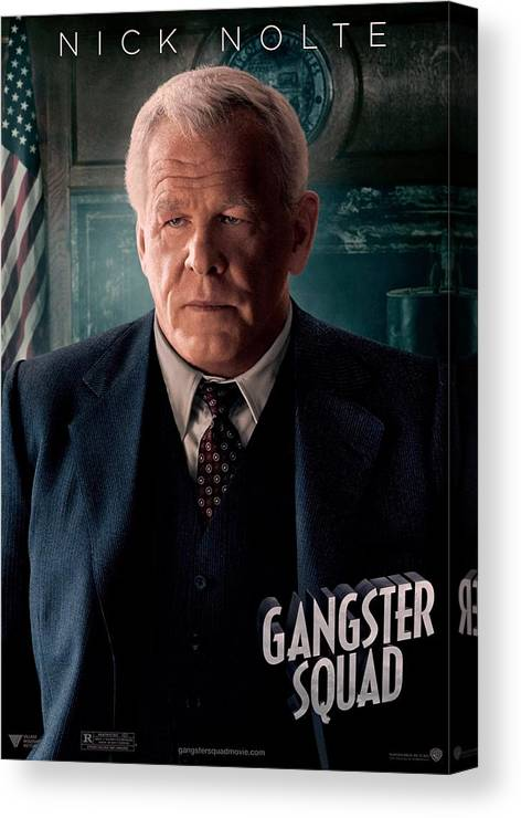 Gangster Squad Canvas Print featuring the photograph Gangster Squad Nolte by Movie Poster Prints