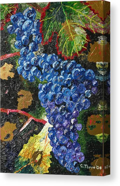 Grapes Canvas Print featuring the painting Grapes by Chris Torre