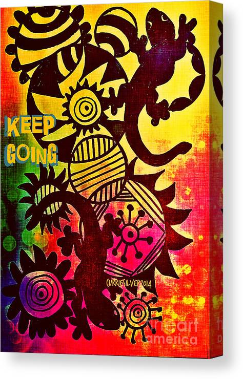 Canvas Print featuring the digital art Keep Going by Currie Silver