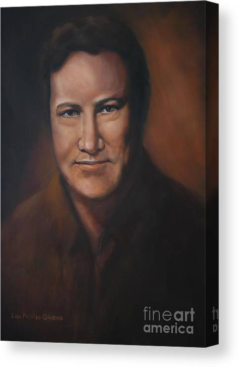 Lefty Frizzell Canvas Print featuring the painting Lefty Frizzell by Lisa Phillips Owens