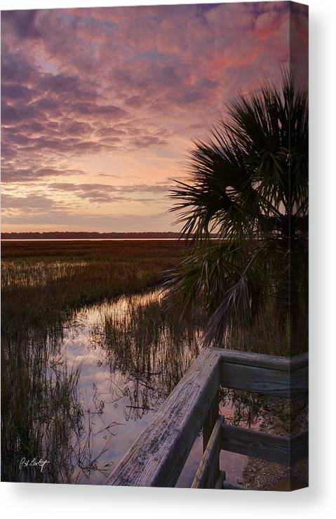 Beaufort County Canvas Print featuring the photograph Marsh Dock by Phill Doherty