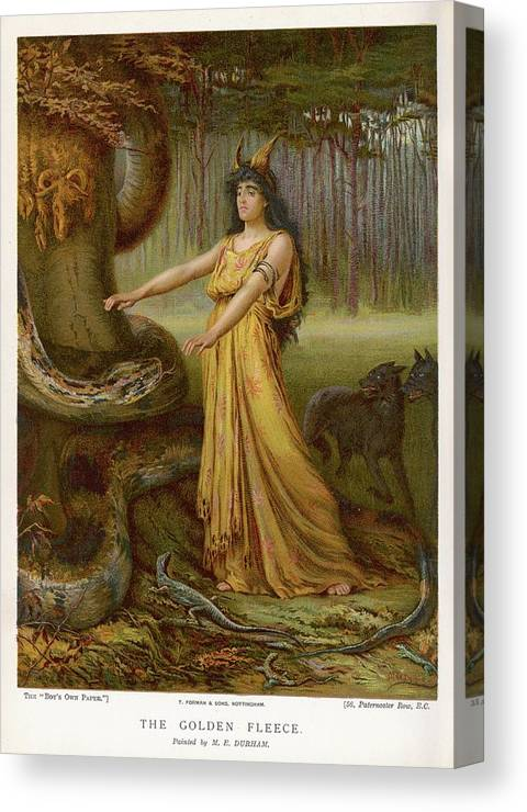 Medea Canvas Print featuring the drawing Medea, Daughter Of Aeetes King by Mary Evans Picture Library