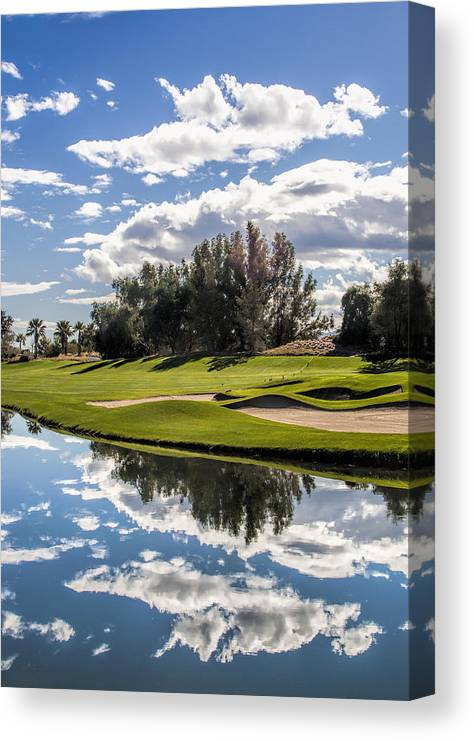 Sky Canvas Print featuring the photograph Reflections On A Still Morning by Photos By Pharos