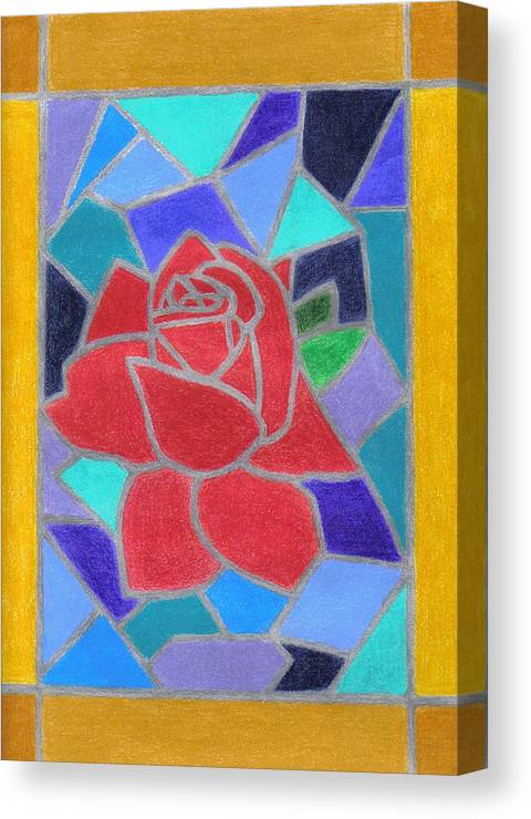 Rose Canvas Print featuring the drawing Sanctuary by Dusty Reed