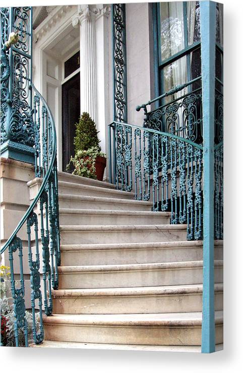 Staircase Canvas Print featuring the photograph Spiral Stairs by Sarah-jane Laubscher
