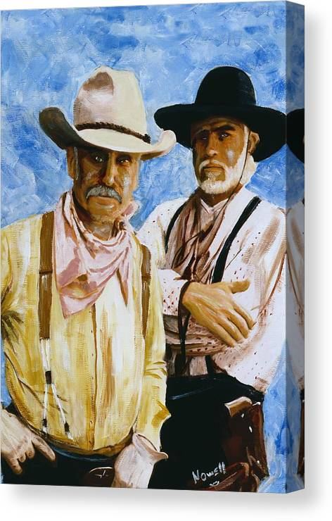 09619b4c16c95 Lonesome Dove Canvas Print featuring the painting Working Lonesome Dove by Peter  Nowell