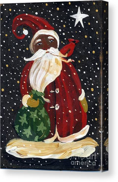 picture relating to Santa Claus Printable Pictures referred to as African American Santa Claus Canvas Print