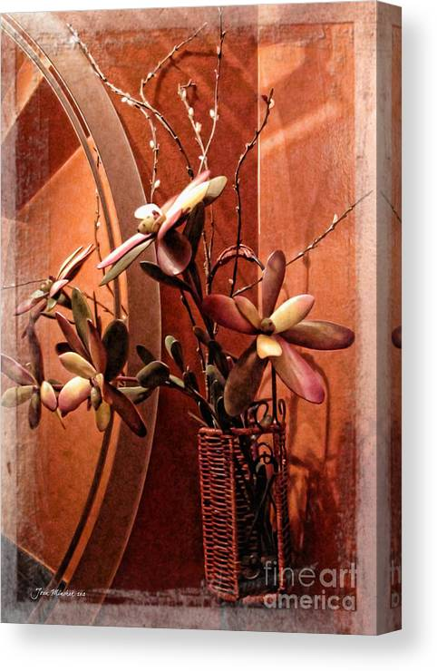 Floral Canvas Print featuring the photograph Arrangement In Mirror by Joan Minchak